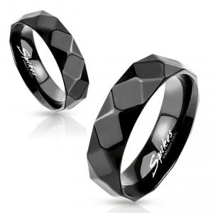 Black Diamond Stainless Steel Scarf Ring