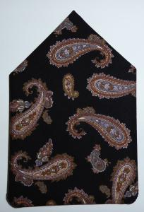 Black & Brown Paiisley Pocket Square