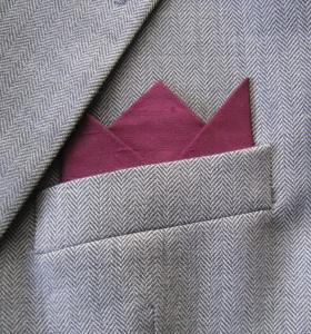 Maroon Silk 3 Point Pocket Handkerchief