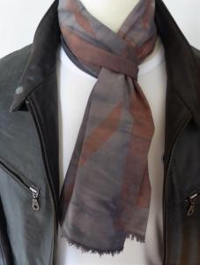 Grey Union Jack Distressed Mod Scarf
