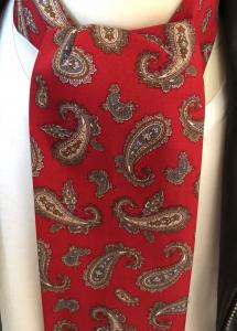 Red & Tan Paisley Mod Scarf