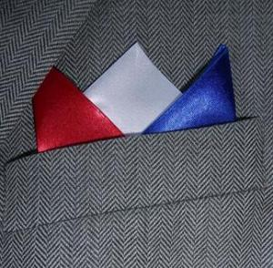 Red White & Blue 3 Point Pocket Handkerchief